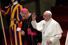 البابا يدعو الى احلال السلام في القدس