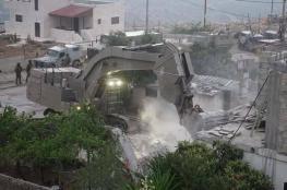 """الاحتلال يهدم منزل منفذ عملية """" حلميش """""""