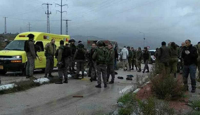 قوات الاحتلال تصيب مواطن جنوب نابلس