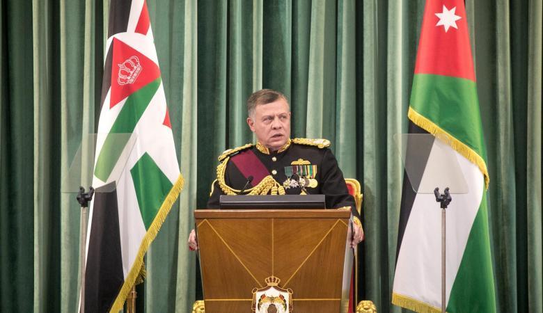 العاهل الاردني : سنواصل الدفاع عن القضية الفلسطينية
