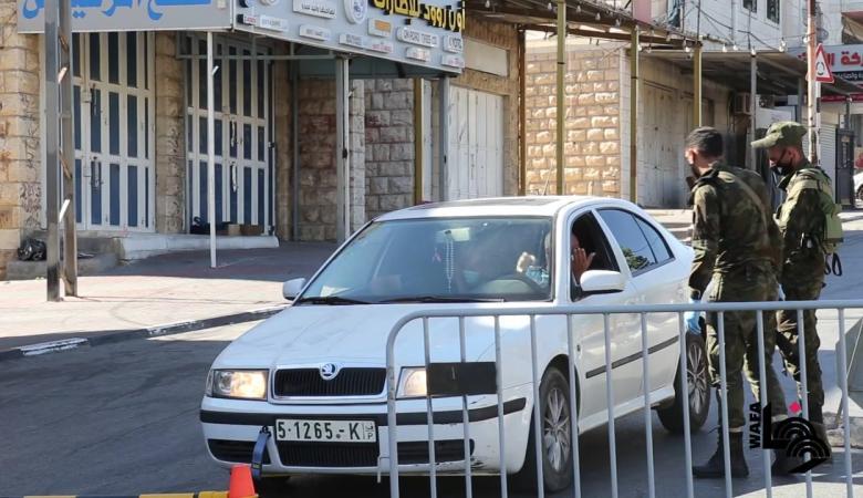 الإغلاق الشامل يعم محافظة الخليل