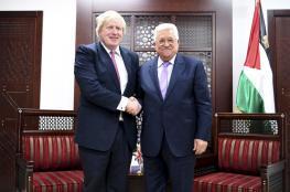 جونسون للرئيس عباس : سنواصل دعم حل الدولتين