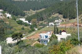 مستوطنون يقتحمون قرية وادي الباذان شرق نابلس