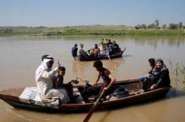 الفيضانات تقطع إمدادات الإغاثة عن غربي الموصل
