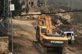 جرافات الاحتلال تهدم منزلا في يعبد جنوب غرب جنين