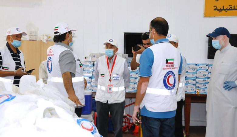 الكويت تقدم 5 آلاف حصة غذائية لأبناء شعبنا في لبنان