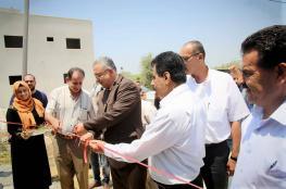 محافظ طولكرم يفتتح مشروع خزان مياع زراعي في باقة الشرقية