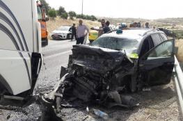 مصرع مواطن واصابة 4 آخرين في حادث سير مروع جنوب بيت لحم