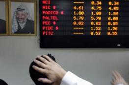 انخفاض على مؤشر بورصة فلسطين بنسبة 0.22%