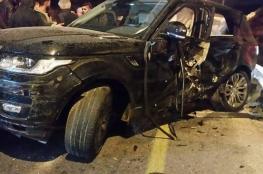 اصابة 6 مواطنين في حادث سير شمال الخليل