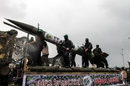 """القسام يطلق  """" 12 """" صاروخا اتجاه البحر  في رشقة صواريخ هي الاشد منذ شهور"""
