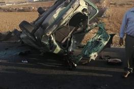 اصابة طفلين بحادث انقلاب مركبة غير قانونية في الخليل