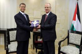 الحمد الله يستقبل السفير المصري لمناسبة انتهاء مهامه الرسمية