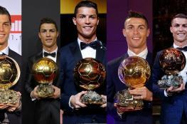 """رونالدو يقترب من جائزة """"الكرة الذهبية"""" للمرة السادسة في تاريخه"""