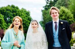 زفاف الأميرة راية بين الحسين على صحفي بريطاني في لندن