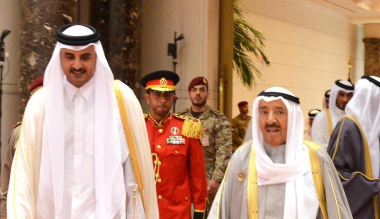 أمير الكويت يستقبل تميم في مقر اقامته بالولايات المتحدة