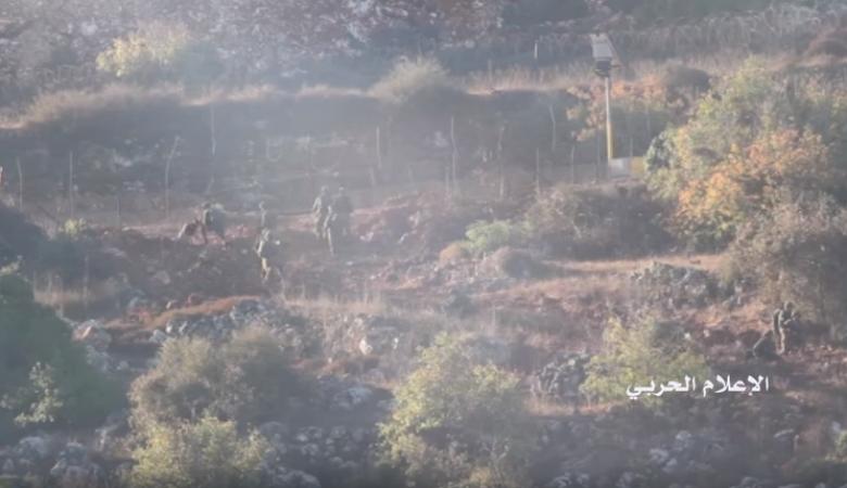 فيديو: 18 جندياً اسرائيليا يجتازون الحدود بين لبنان وفلسطين المحتلة