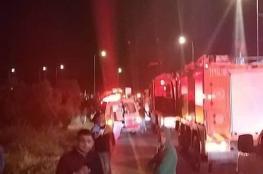 10 اصابات في حادث سير مروع شرق قلقيلية (صور )