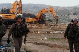جرافات الاحتلال تهدم منشآت سكنية وزراعية في القدس