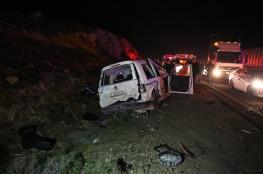 مصرع مواطنين واصابة 127 آخرين في 173 حادث سير بالضفة الغربية خلال اسبوع