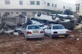 الشرطة تتلف 62 مركبة غير قانونية في قصرة شرق نابلس