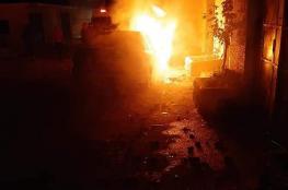 شجار عائلي يتسبب باصابات واحراق منازل شمال الخليل