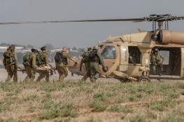 اصابة جندي اسرائيلي بجراح بالغة اثناء التدريب بالنقب
