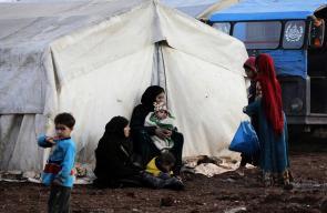 ازمة انسانية يعاني منها نحو مليون لاجئ سوري على الحدود التركية