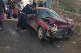 مصرع مواطن واصابة 212 آخرين في 252 حادث سير وقعت بالضفة الغربية