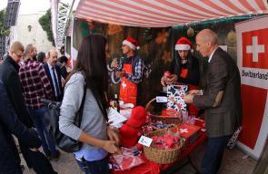 افتتاح سوق الميلاد الثامن عشر في ساحة المهد ببيت لحم