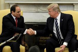 ترامب للسيسي: نحن نقف وراء مصر وشعب مصر بقوة
