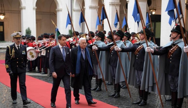 الرئيس يهنئ رئيس الوزراء الايطالي بتشكيل الحكومة
