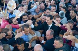 """بشار الاسد يؤدي صلاة عيد الأضحى ..""""شاهد """""""