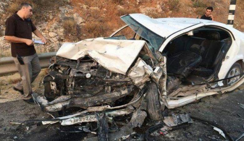 اصابة 5 مواطنين بحادث تصادم 4 مركبات بجنين