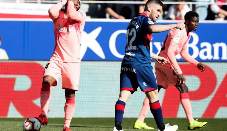 متذيل الدوري الاسباني يحرج برشلونة ويفرض عليه التعادل