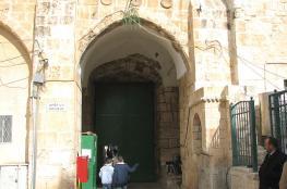 """الاحتلال يعيد اغلاق باب """"حطة """" أمام المصلين"""