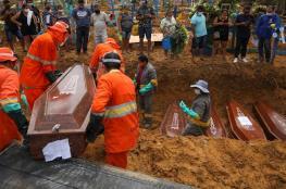 البرازيل : مليون ومئة الف اصابة بفيروس كورونا