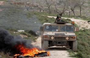 اصابات في مواجهات مع الاحتلال في قرية عوريف جنوب نابلس