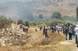 اصابات في قمع الاحتلال لمسيرة سلمية شرق نابلس