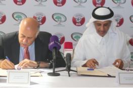 الرجوب ونظيره القطري يوقعان أول اتفاقية تعاون رياضي بين البلدين