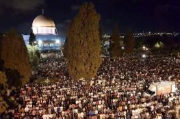 300 ألف مصلي يحيون ليلة القدر في الأقصى