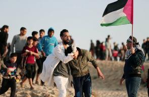 47 إصابة اثر اعتداء قوات الاحتلال على المسير البحري الـ 18 شمال قطاع غزة