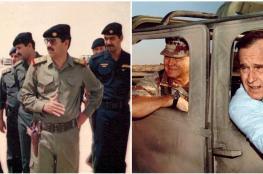 صدام حسين الذي أصاب جورج بوش الأب بالاكتئاب