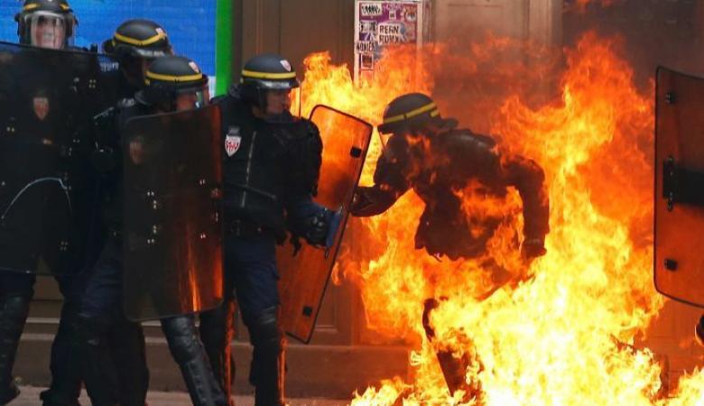 الاعلام الاوروبي : ما يحدث في فرنسا حرب عصابات وباريس تحرق بالنار