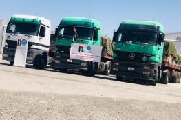 الاردن يرسل 7 شاحنات اغاثية الى غزة