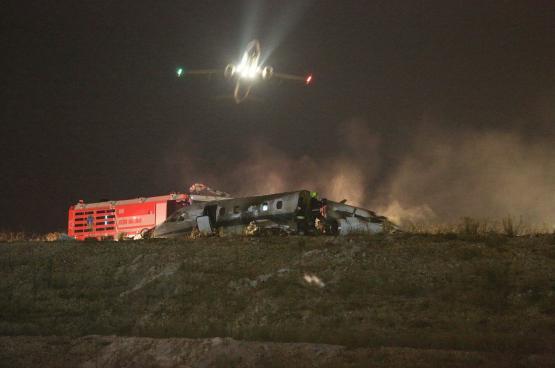 تحطم طائرة  في مطار أتاتورك التركي