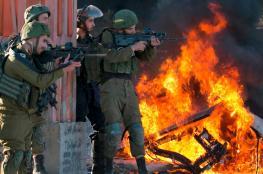اصابات في مواجهات مع الاحتلال جنوب نابلس