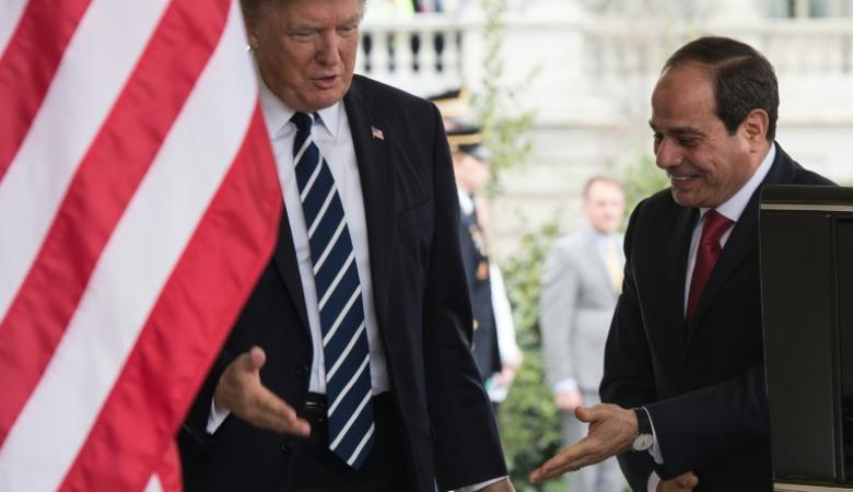السيسي : ترامب هو الرقم الحاسم لوصول الى سلام بين الفلسطينيين والاسرائيليين