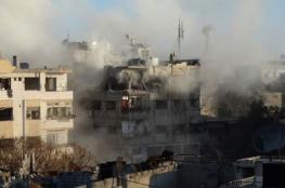 النظام السوري يشن غارات مكثفة على مخيم اليرموك للاجئين الفلسطينيين