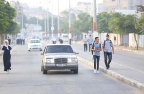 جانب من انطلاق العام الدراسي الجديد في غزة